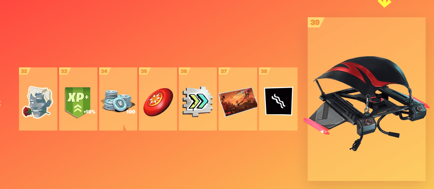 Fortnite Season 9 Battle Pass Rewards - Tier 32-39