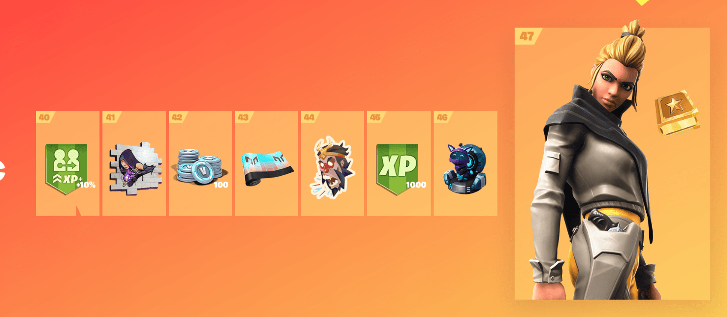 Fortnite Season 9 Battle Pass Rewards - Tier 40-47