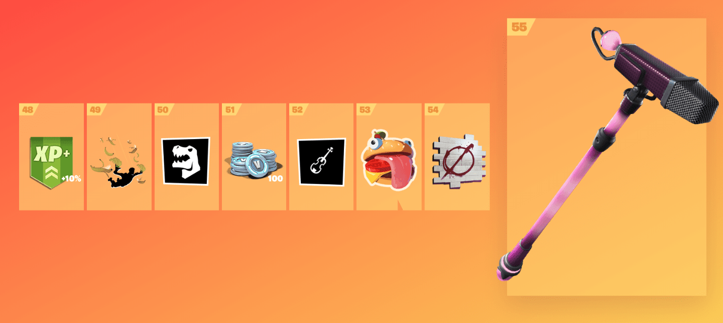 Fortnite Season 9 Battle Pass Rewards - Tier 48-55
