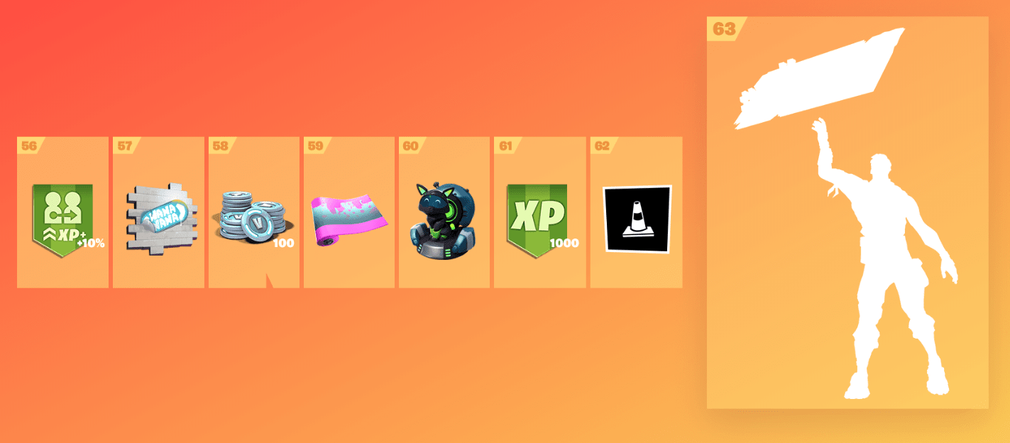 Fortnite Season 9 Battle Pass Rewards - Tier 56-63