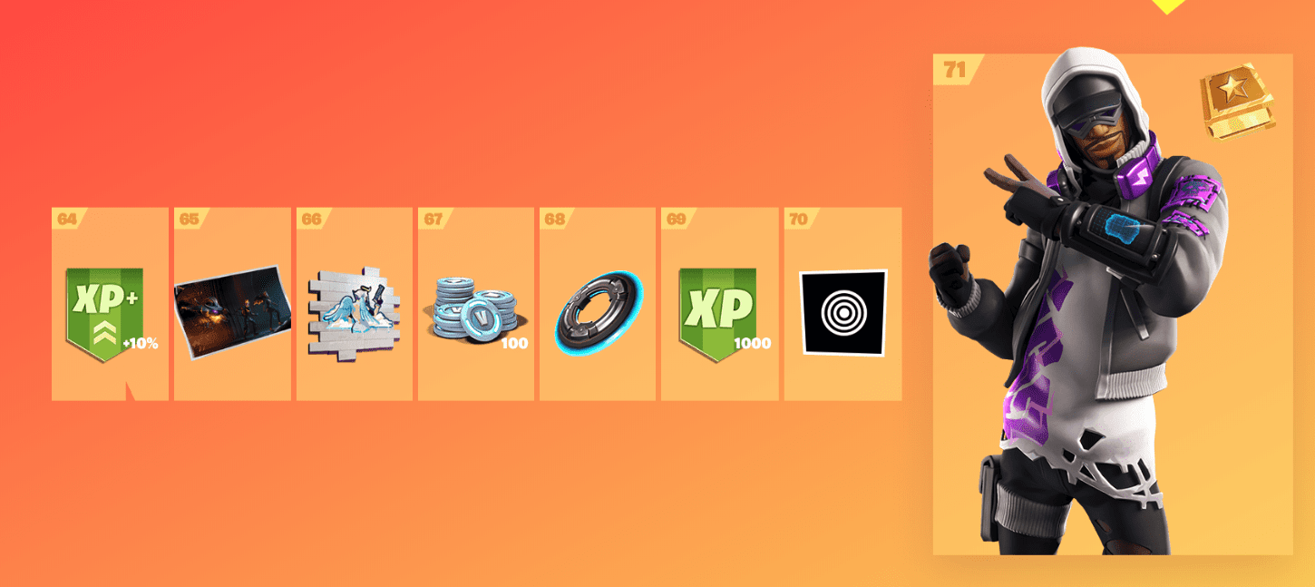 Fortnite Season 9 Battle Pass Rewards - Tier 64-71