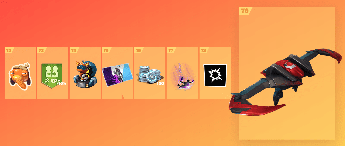 Fortnite Season 9 Battle Pass Rewards - Tier 72-79