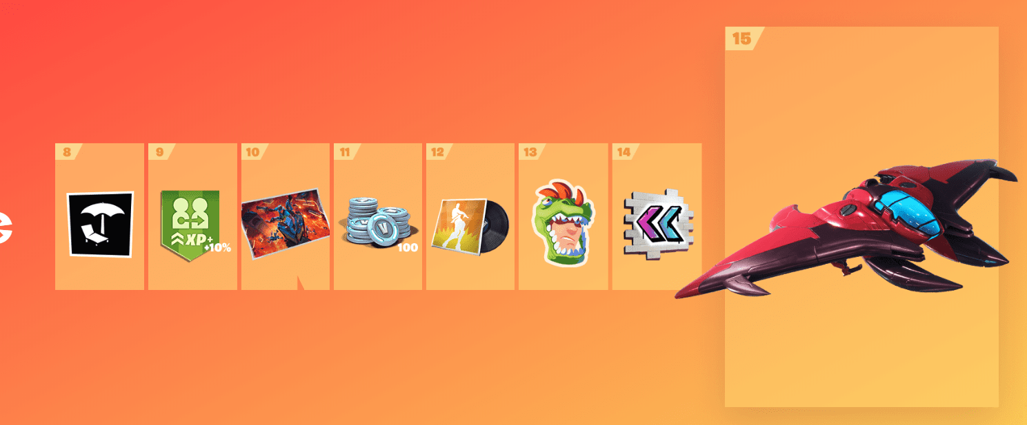 Fortnite Season 9 Battle Pass Rewards - Tier 8-15
