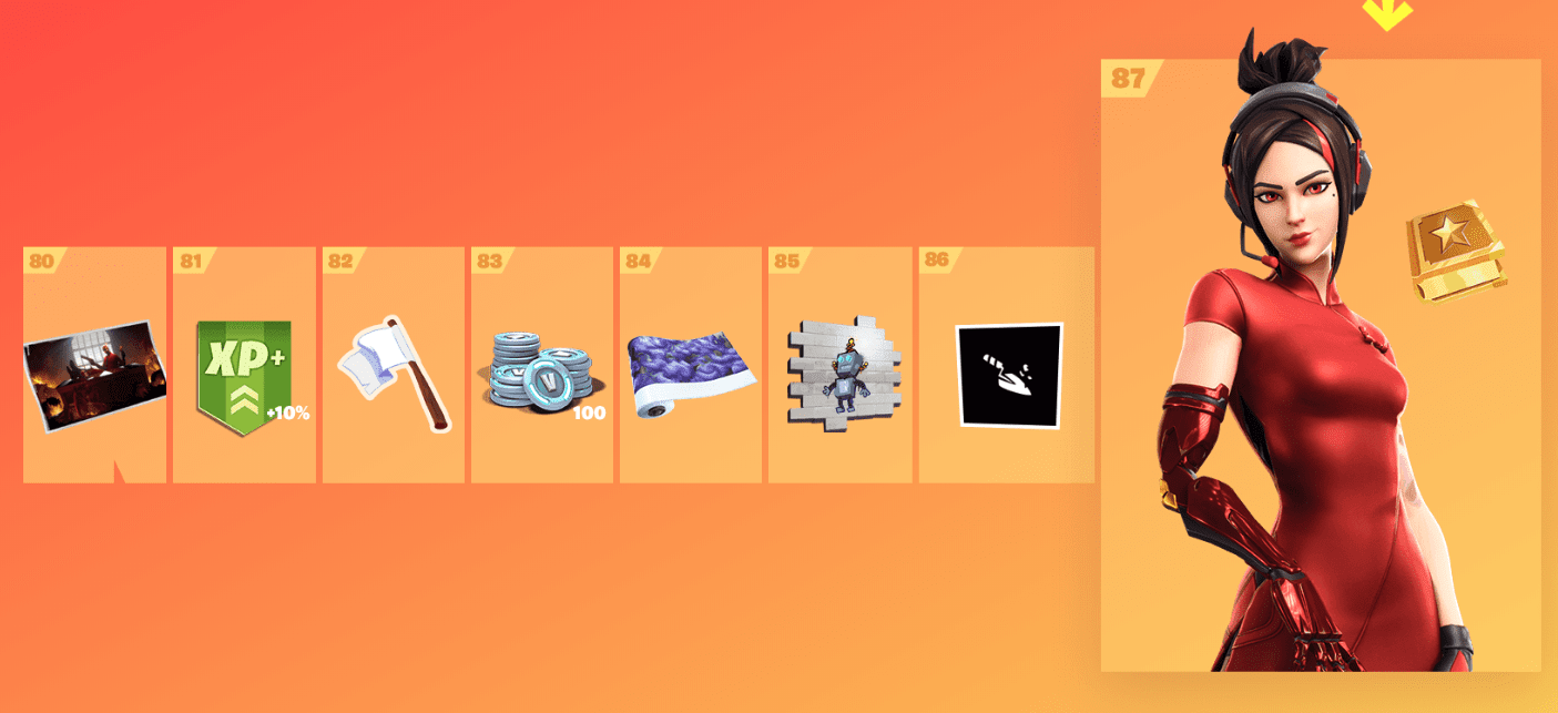 Fortnite Season 9 Battle Pass Rewards - Tier 80-87