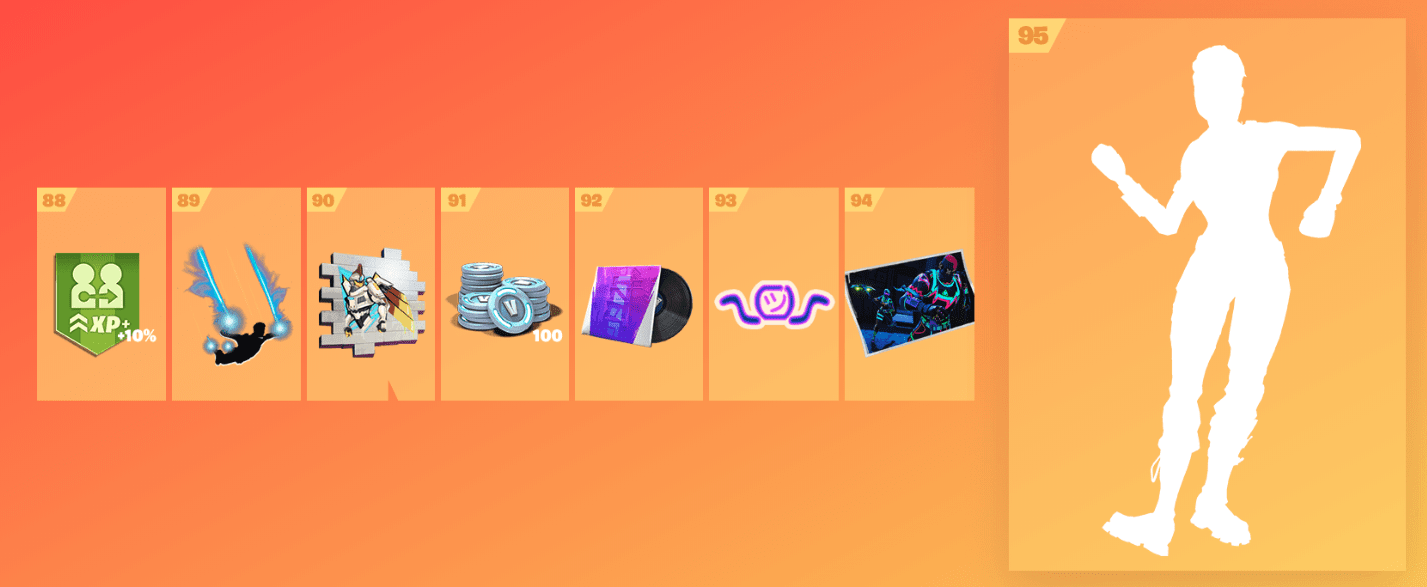 Fortnite Season 9 Battle Pass Rewards - Tier 88-95