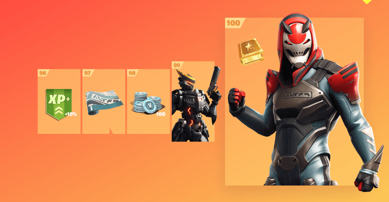 Fortnite Season 9 Battle Pass Rewards - Tier 96-100