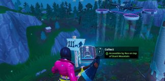 Fortnite Season 9 Fortbyte 64 Location - Accessible by Rox on top of Stunt Mountain