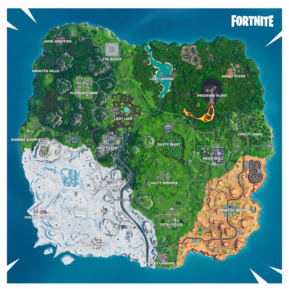 Fortnite Season 9 Map