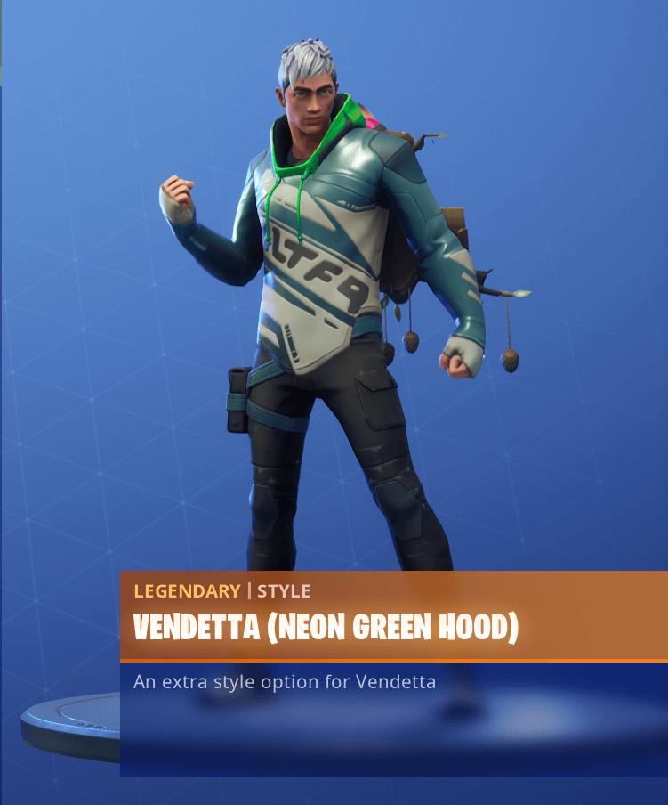 fortnite season 9 vendetta skin challenges neon green hood - fortnite season 9 skins vendetta