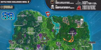 Fortnite Season 9, Week 2 Challenges Cheat Sheet Map