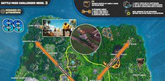 Fortnite Season 9, Week 3 Challenges Cheat Sheet Map