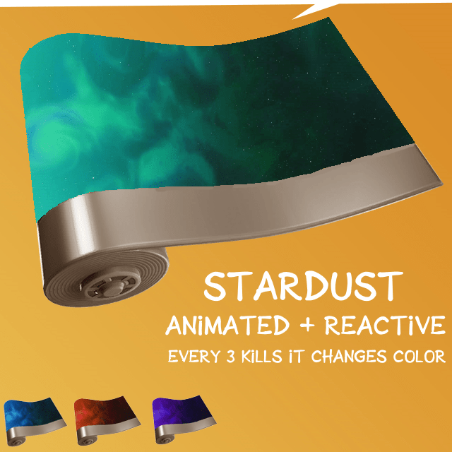 Fortnite Wrap Concept - Stardust Animated and Reactive Wrap via u/ThatMysteryGuy_uk