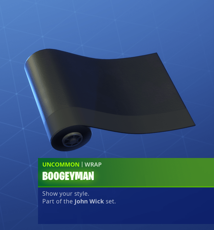 Fortnite x John Wick's Bounty LTM Reward - Boogeyman Wrap