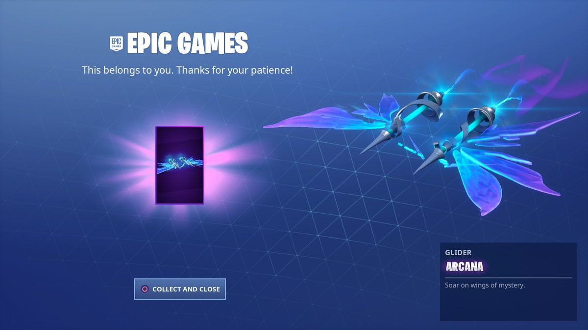 Free Fortnite Arcana Glider Now Being Sent Out To Players | Fortnite