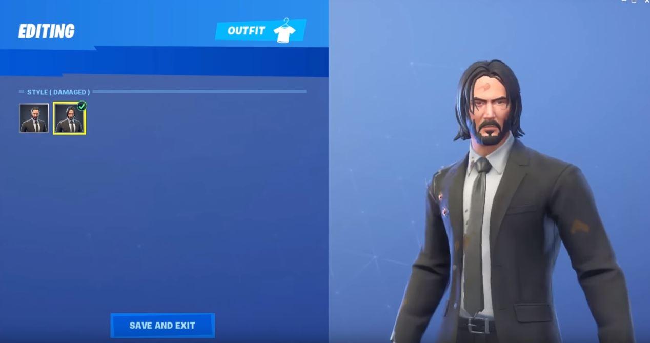 John Wick Skin Leaked In-Game Footage