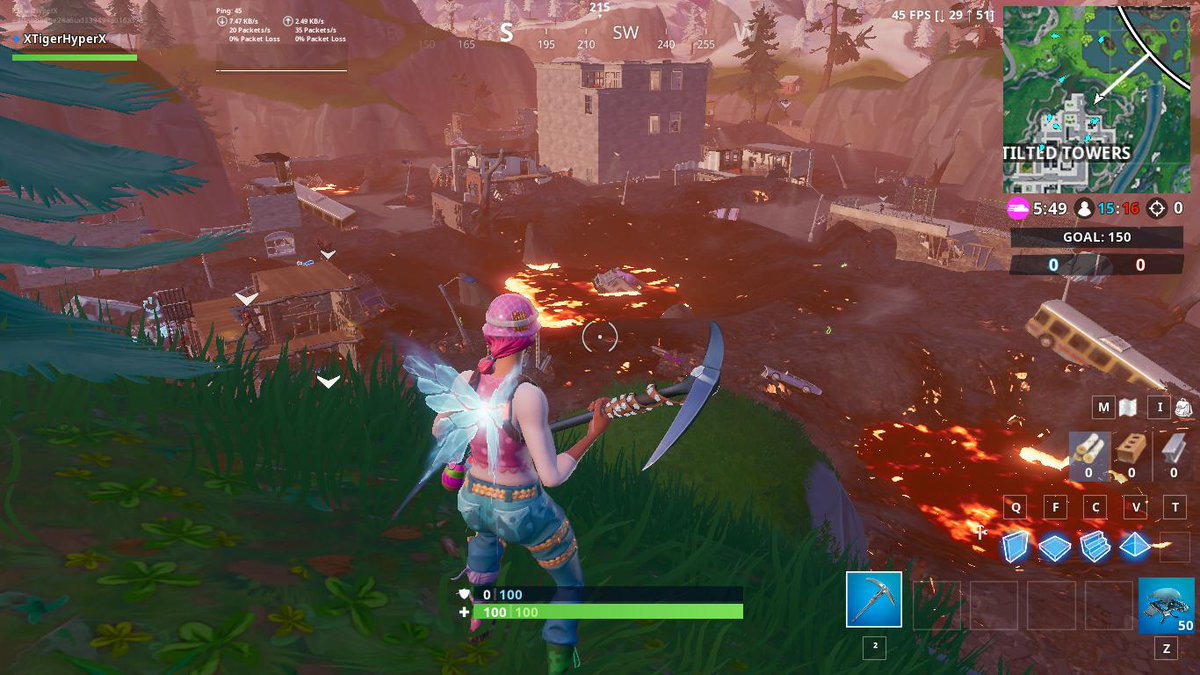 Tilted Towers Destroyed