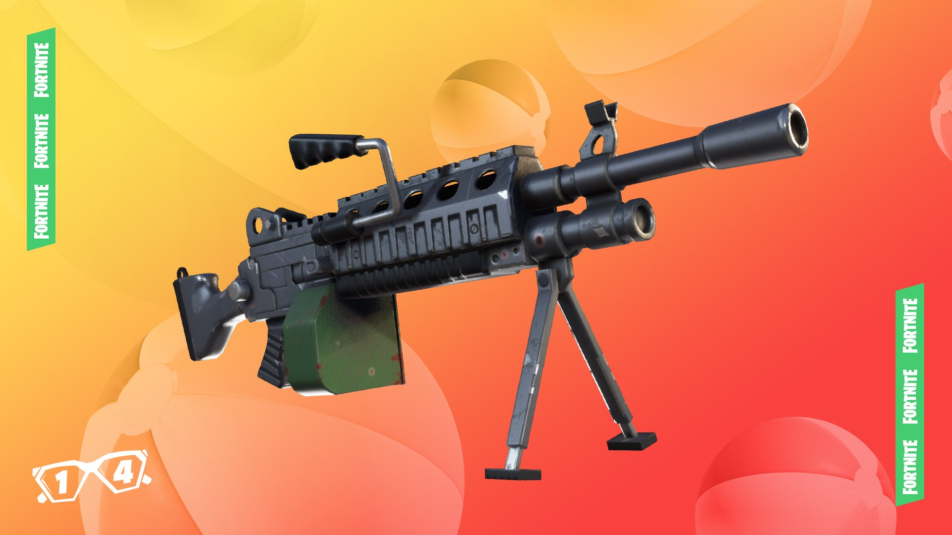 14 Day Summer Fortnite Event, Day 1, Light Machine Gun, Not Arched