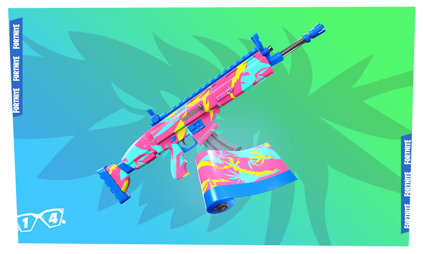 14 Days of Summer Fortnite Event - Day 6 Reward Neon Tropics Wrap