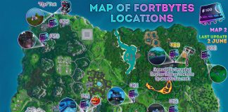 All Fortnite Fortbyte Locations - Fortbytes 16, 26, 31, 32, 41, 50, 74, 77, 79, 80, 88, 91