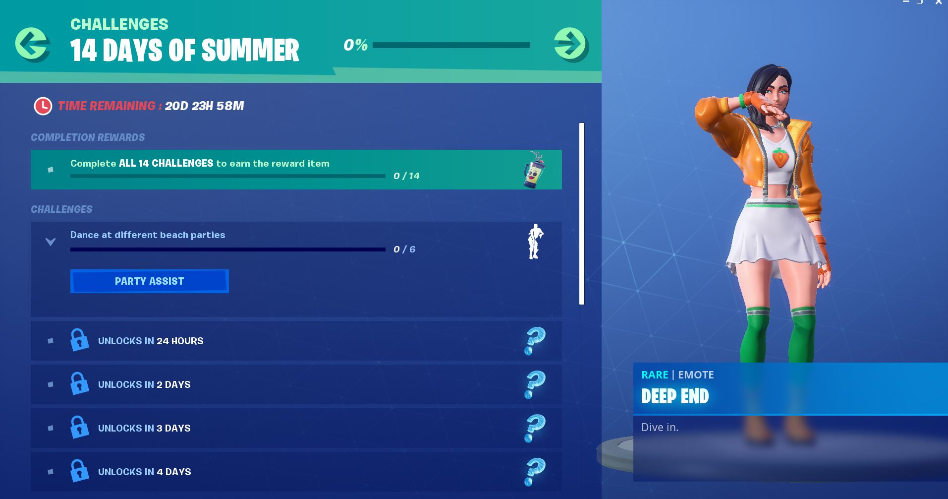 Here are all Fortnite's 14 Days of Summer challenges and rewards