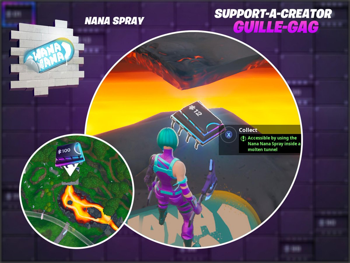 Fortbyte #12 - Accessible by using the Nana Nana Spray inside a molten tunnel