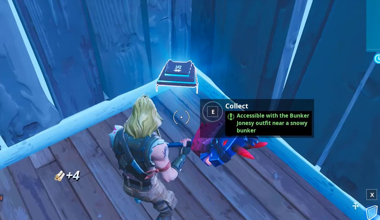Fortbyte #26 - Accessible with Bunkey Jonesy outfit near a snowy bunker in-game