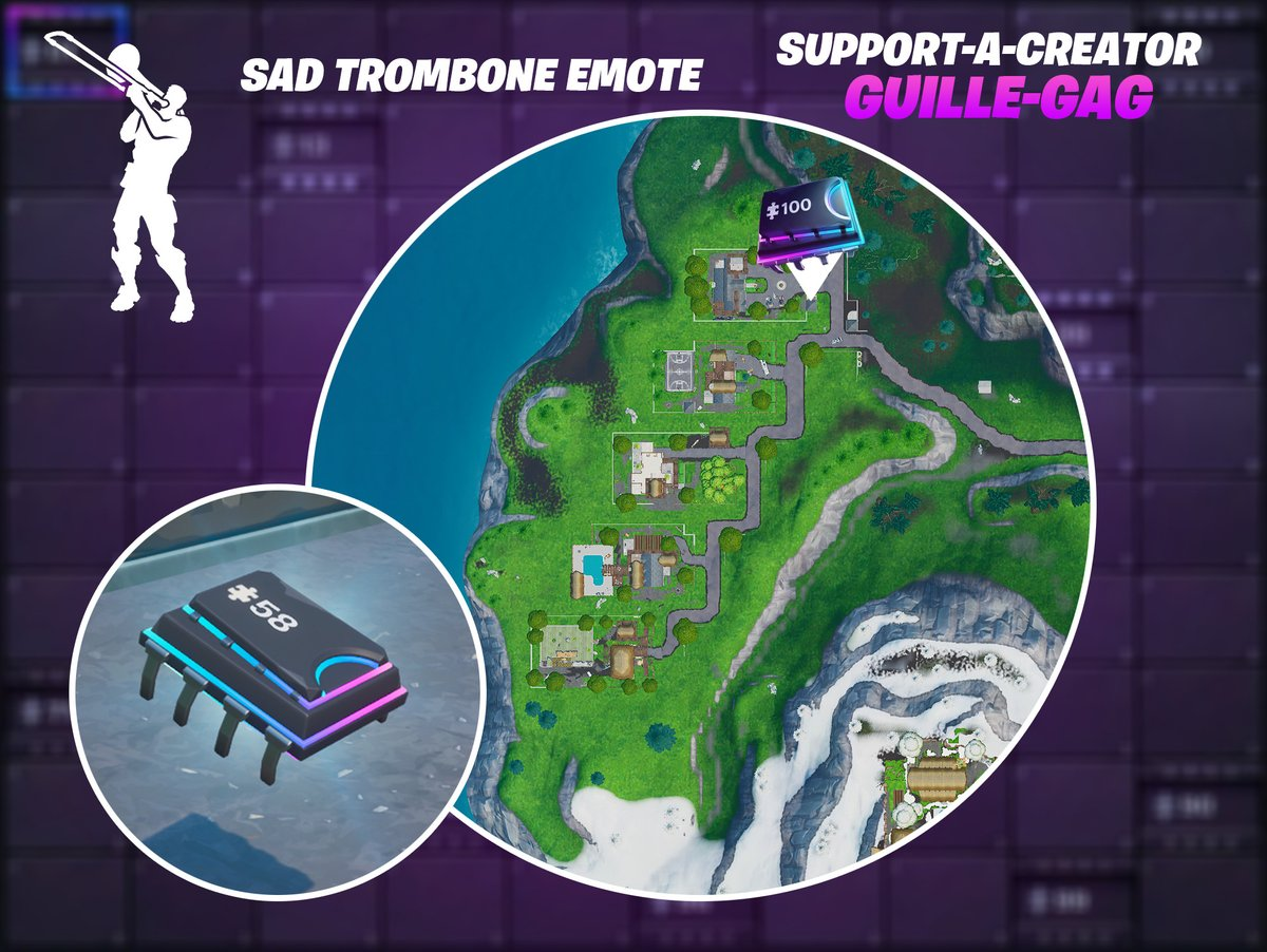 Fortbyte #58 - Accessible by using the Sad Trombone Emote at the north end of Snobby Shores