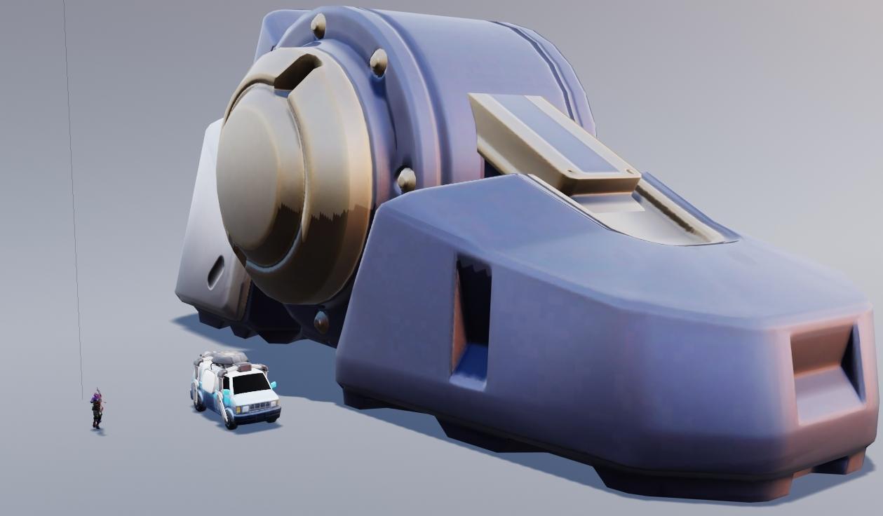 Fortnite Robot Foot to Scale - via @KrispyLeaks