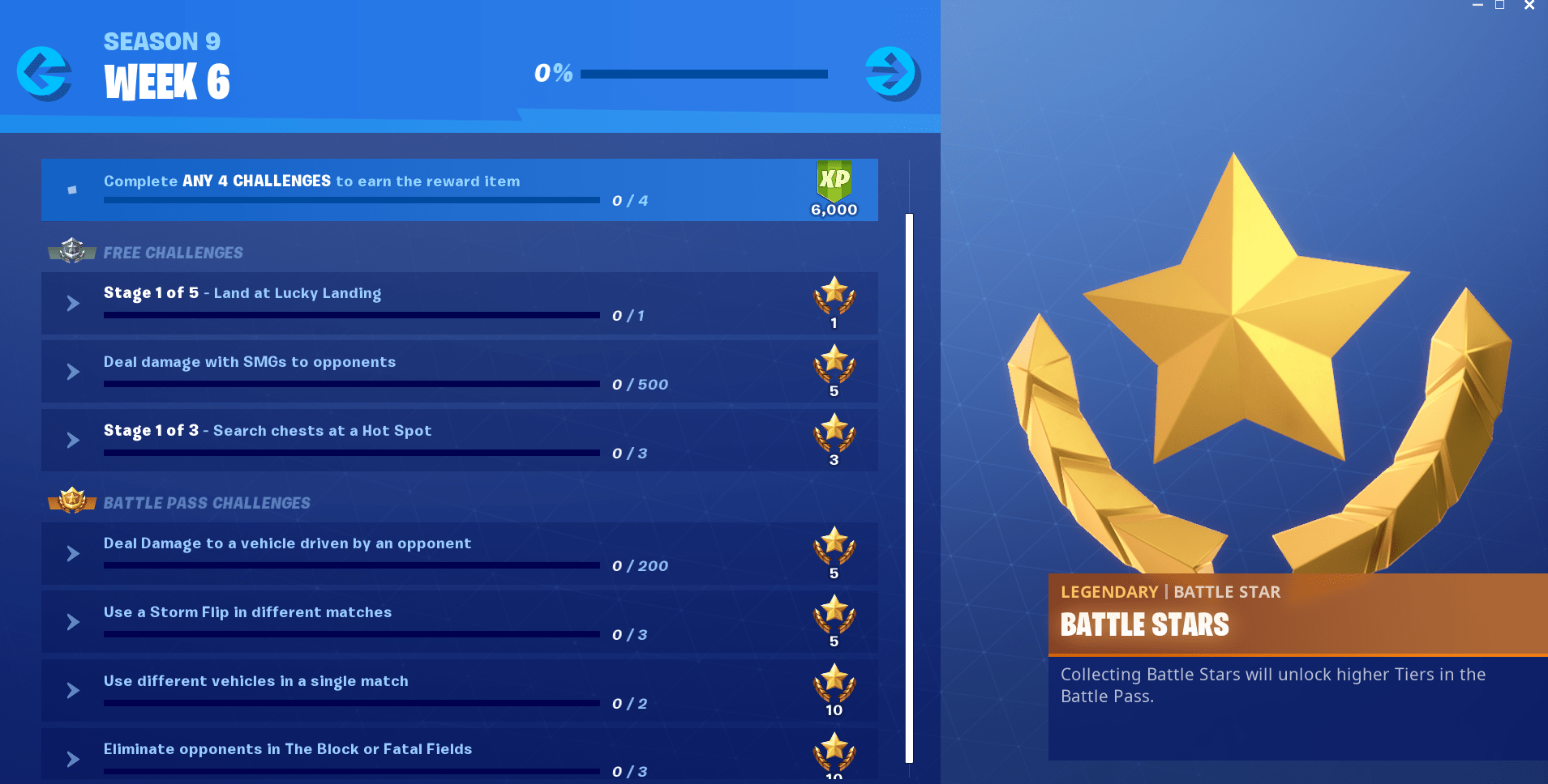 Fortnite Season 9, Week 6 Challenges