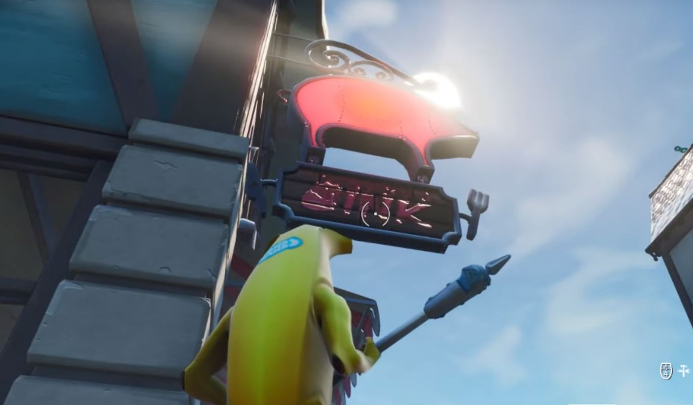 Accessible with Sign Spinner emote in Happy Oink restaurant