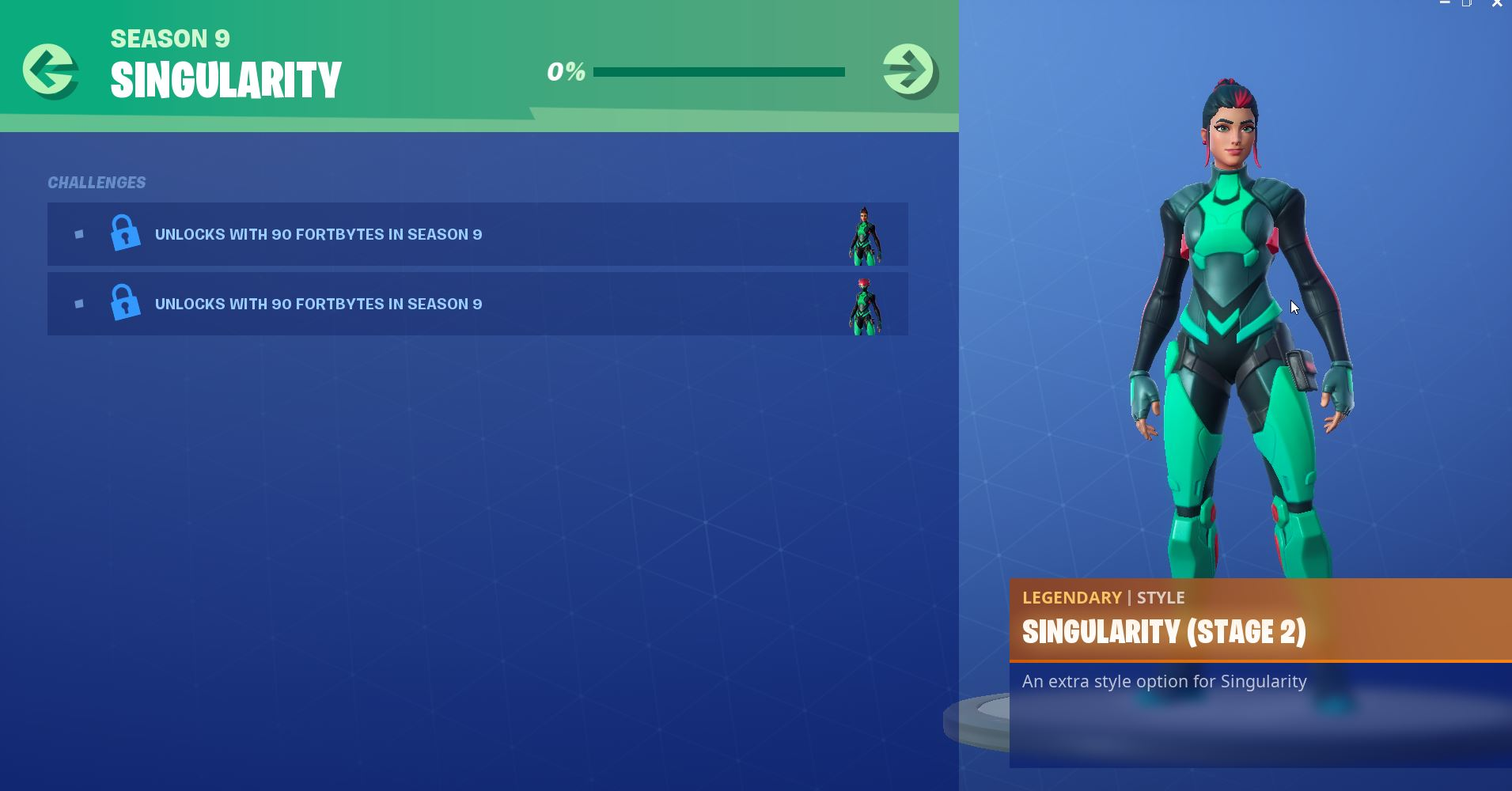 Fortnite Season 9 Mystery Secret Utopia Challenges Singularity Skin