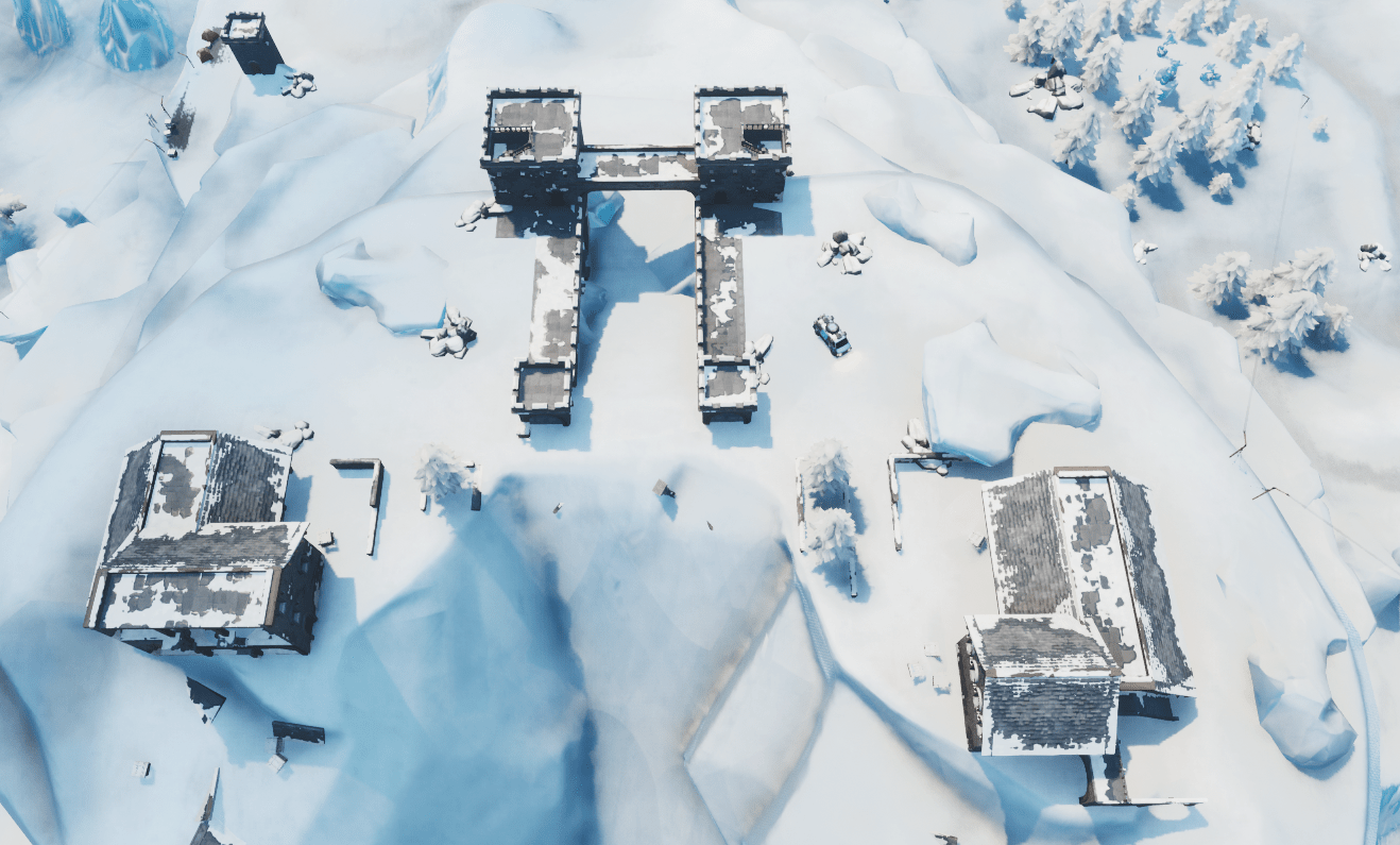 Fortnite v9.20 Map Changes - Polar Peak Castle Destroyed