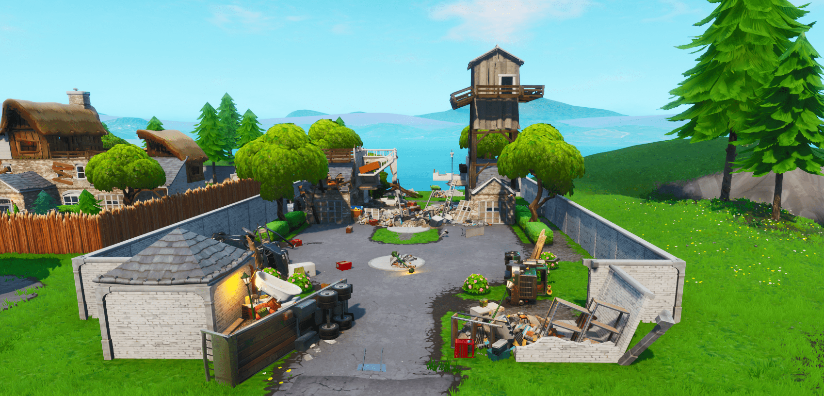 Fortnite v9.21 Map Changes - Last House in Snobby Shores Destroyed
