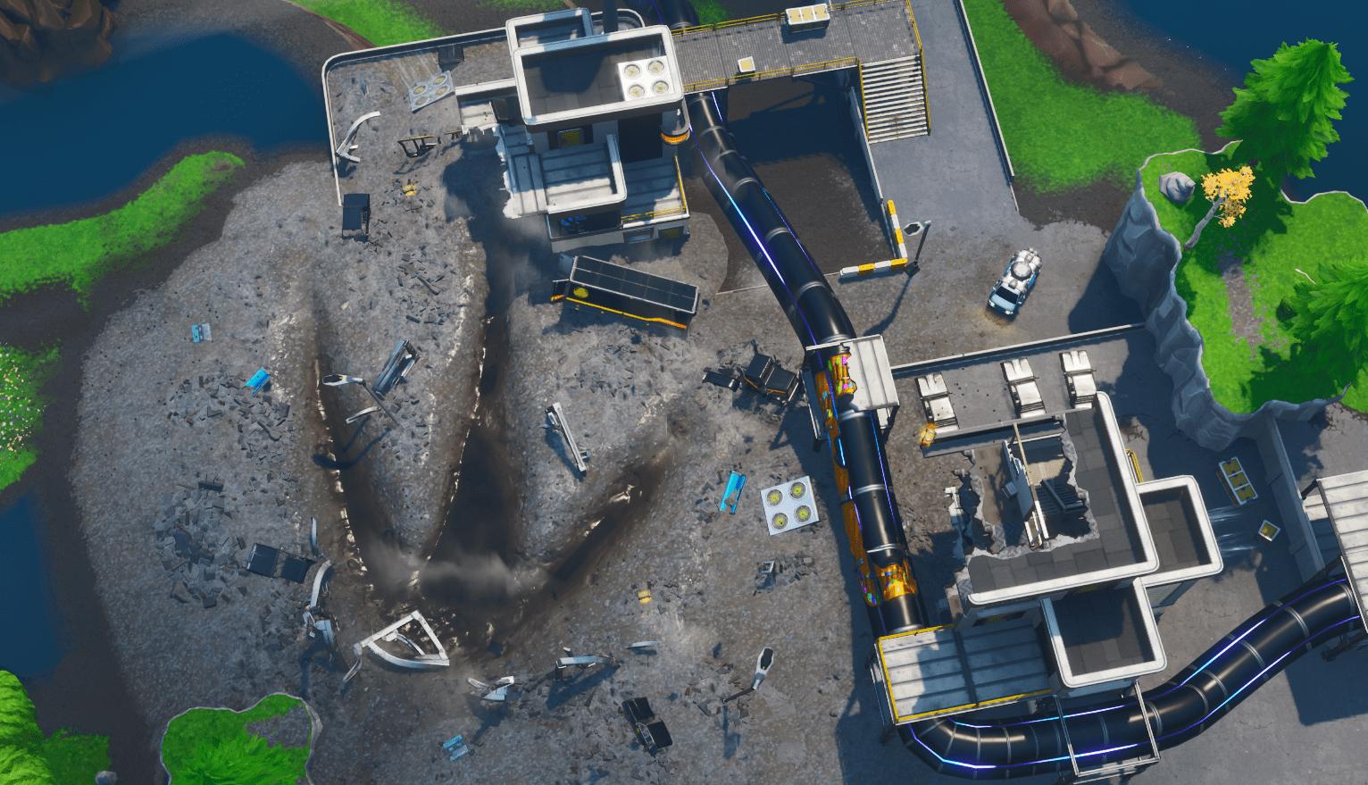 Fortnite v9.30 Map Changes - Loot Lake Monster Footprint