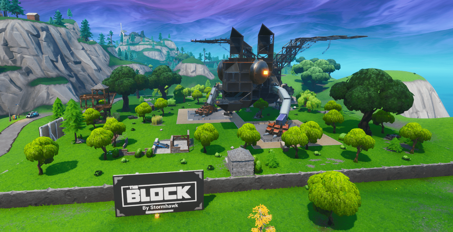 Fortnite v9.30 Map Changes - The Block by Stormhawk