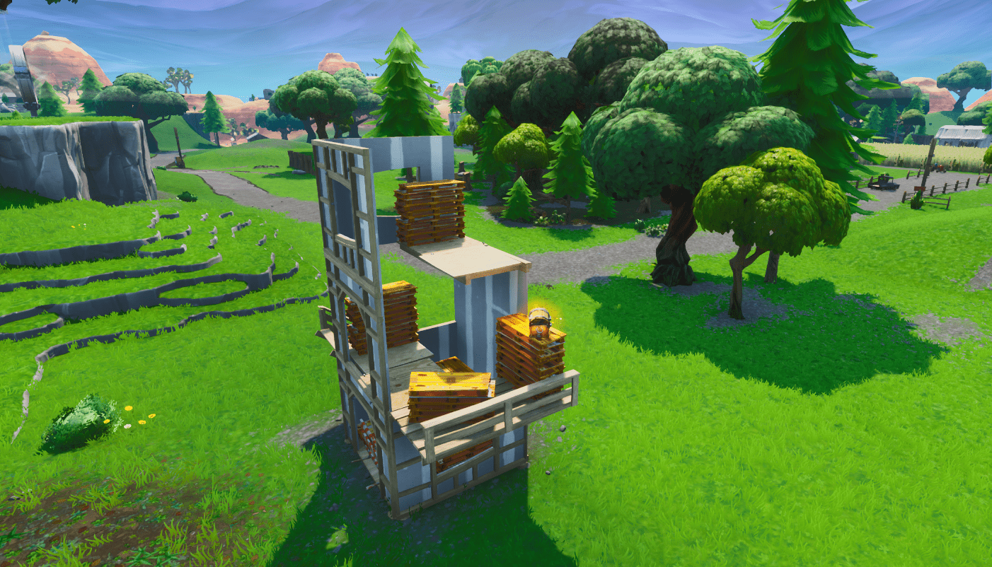 Fortnite v9.30 Map Changes - Three Story Structure North of Fatal Fields