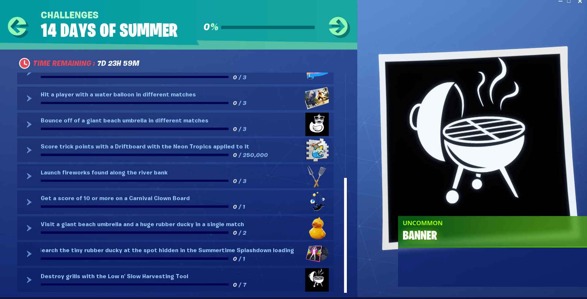 14 Days of Summer Fortnite Event - Day 14 Challenge and Reward