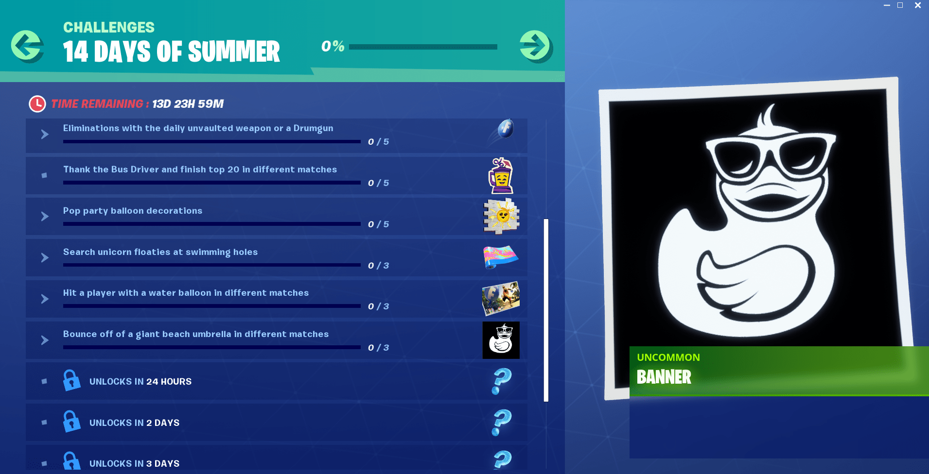 14 Days of Summer Fortnite Event - Day 8 Challenge and Reward