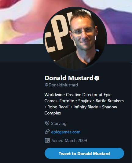 Donald Mustard Twitter Location