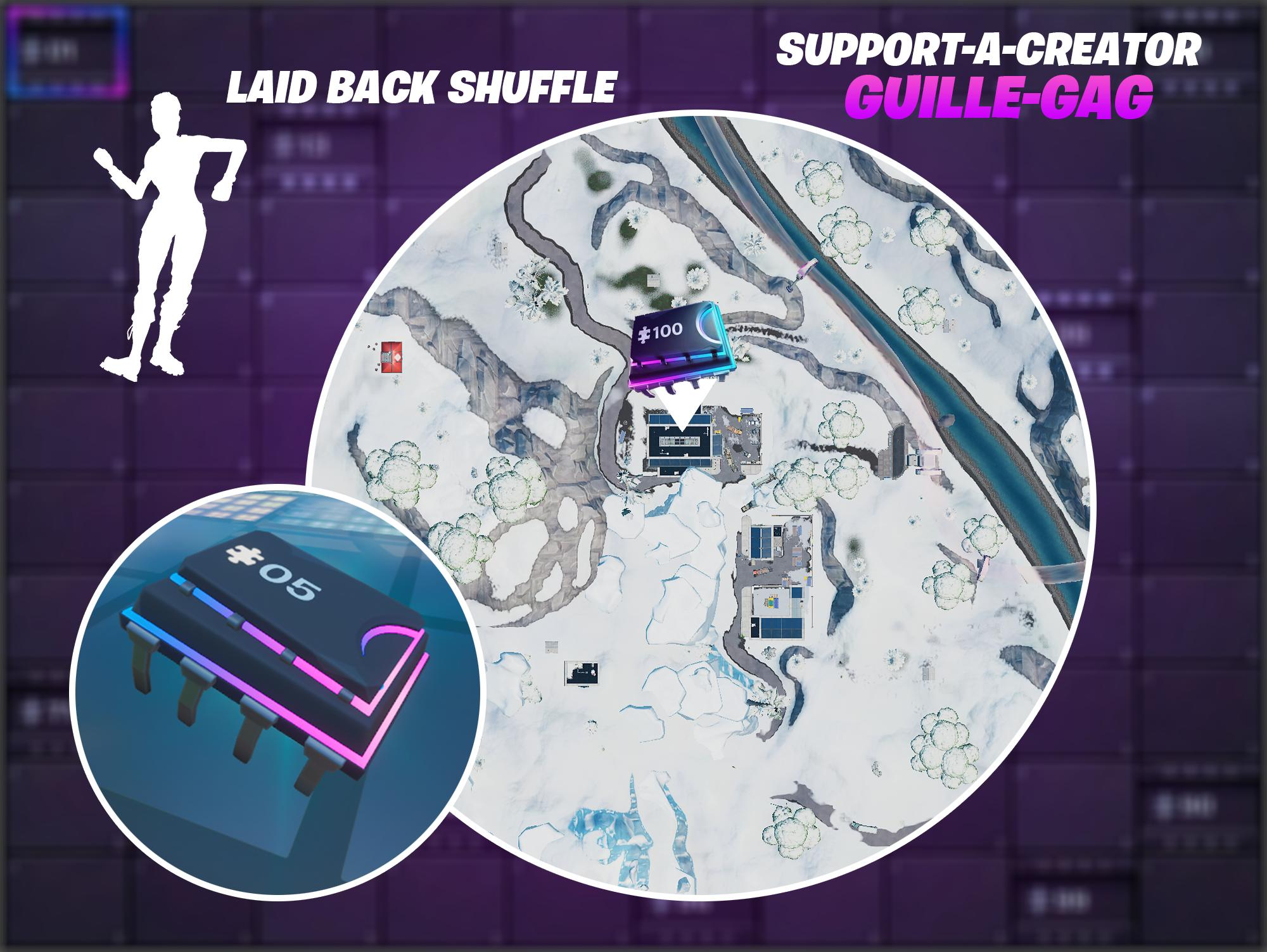 Fortnite Fortbyte 5: dance club with Laid Back Shuffle emote location
