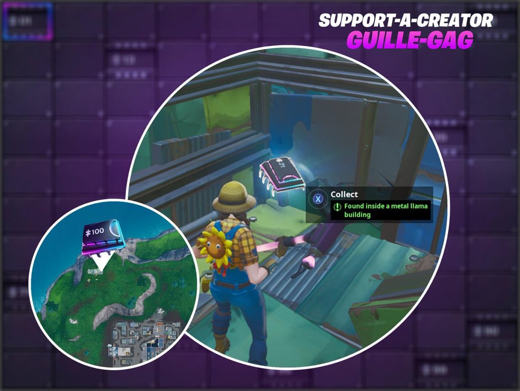 Fortbyte 21 Location: Inside a Metal Llama in Fortnite