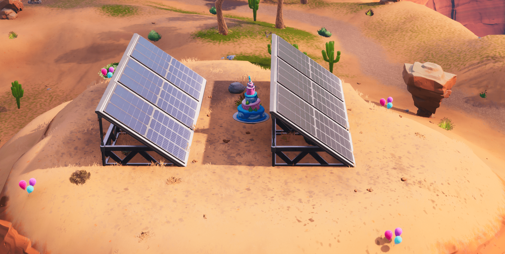 Fortnite Birthday Cake Location - East Paradise Palms
