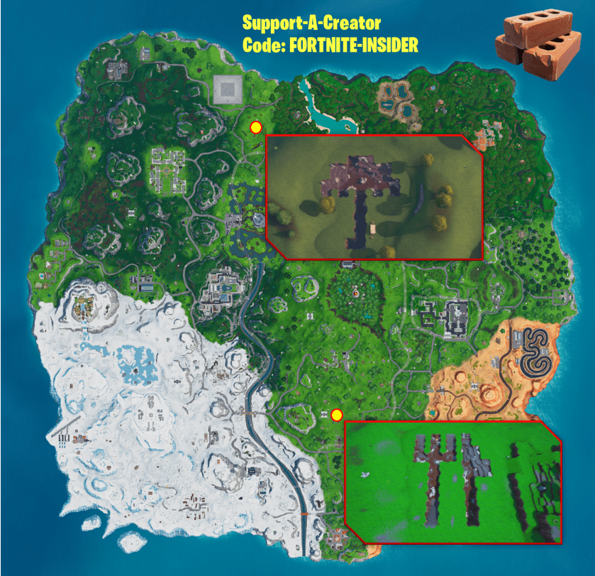 Fortnite Challenge - How and Where to Collect Stone from a Fork Knife or Umbrella Map Location