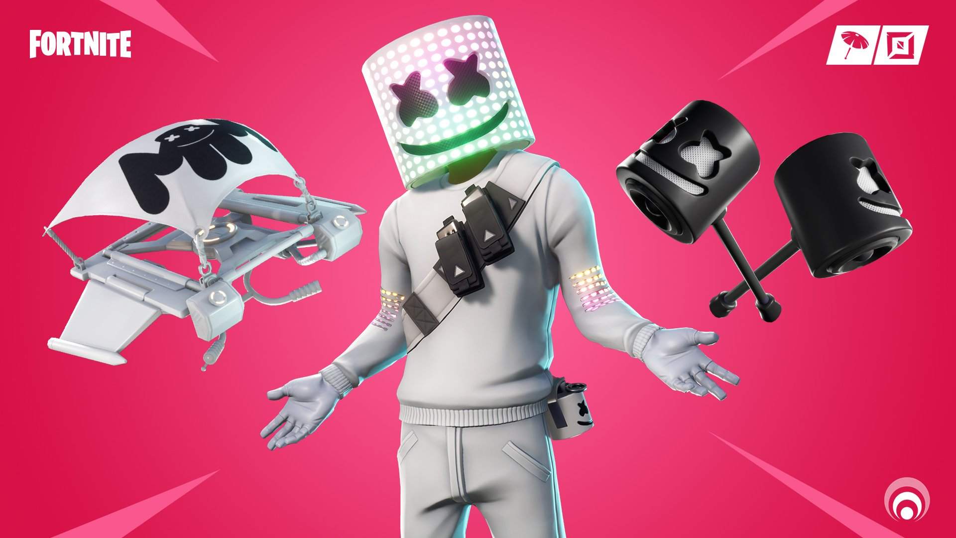 Fortnite Marshmello Skin with new Mello Mallets pickaxe