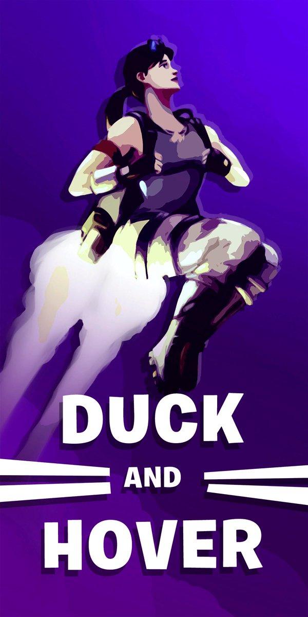 Fortnite Propaganda Poster - Duck and Cover