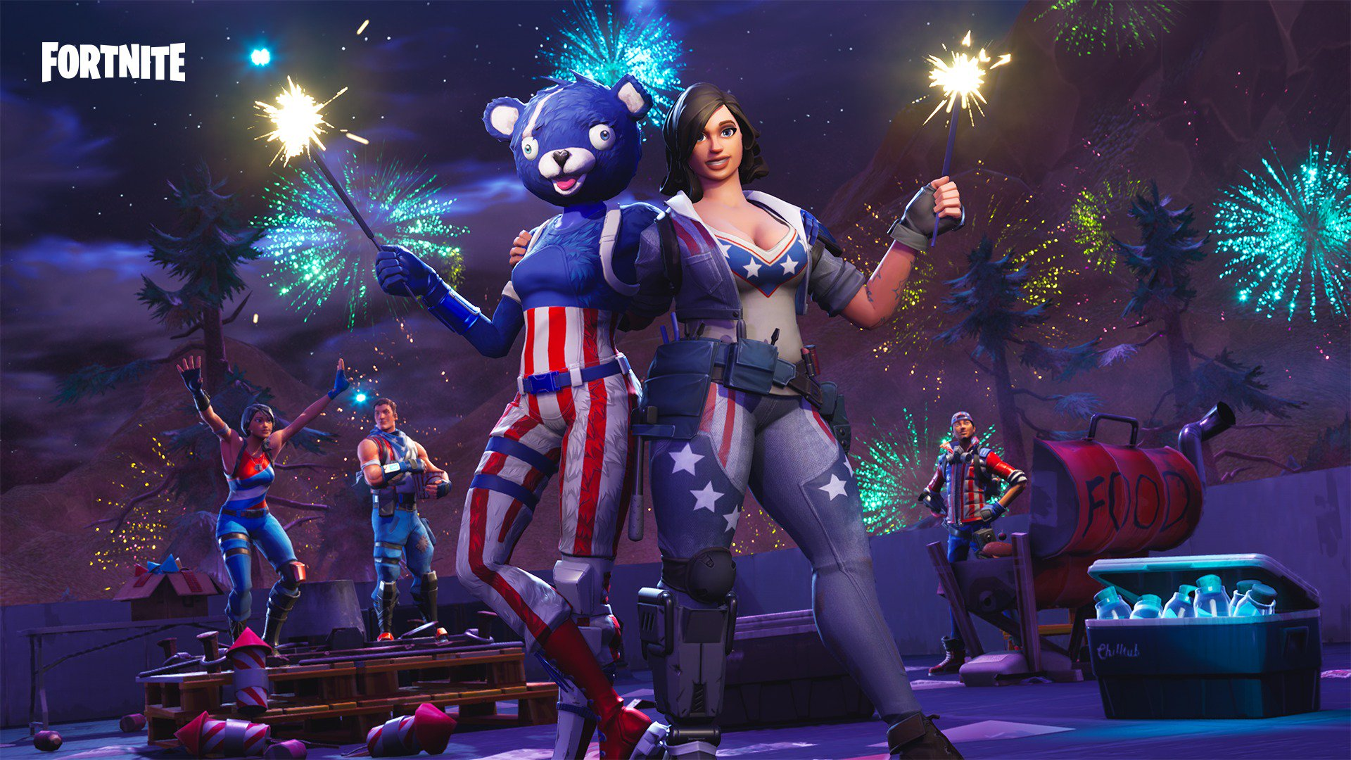 Fortnite Launch Fireworks Locations: Where are the fireworks along the river bank?