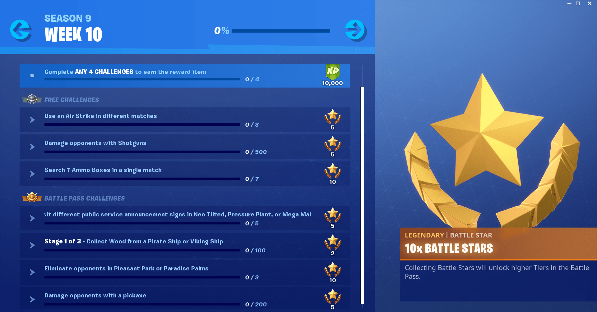 Fortnite Season 9, Week 10 Challenges