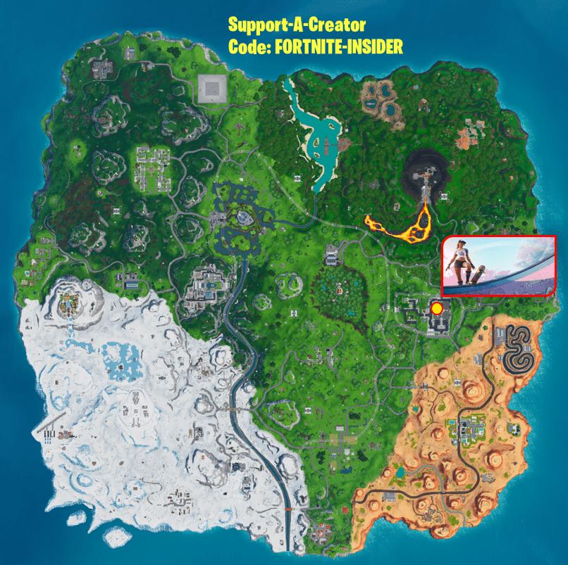 Fortnite Utopia Week 9 Hidden Battle Star Map Location