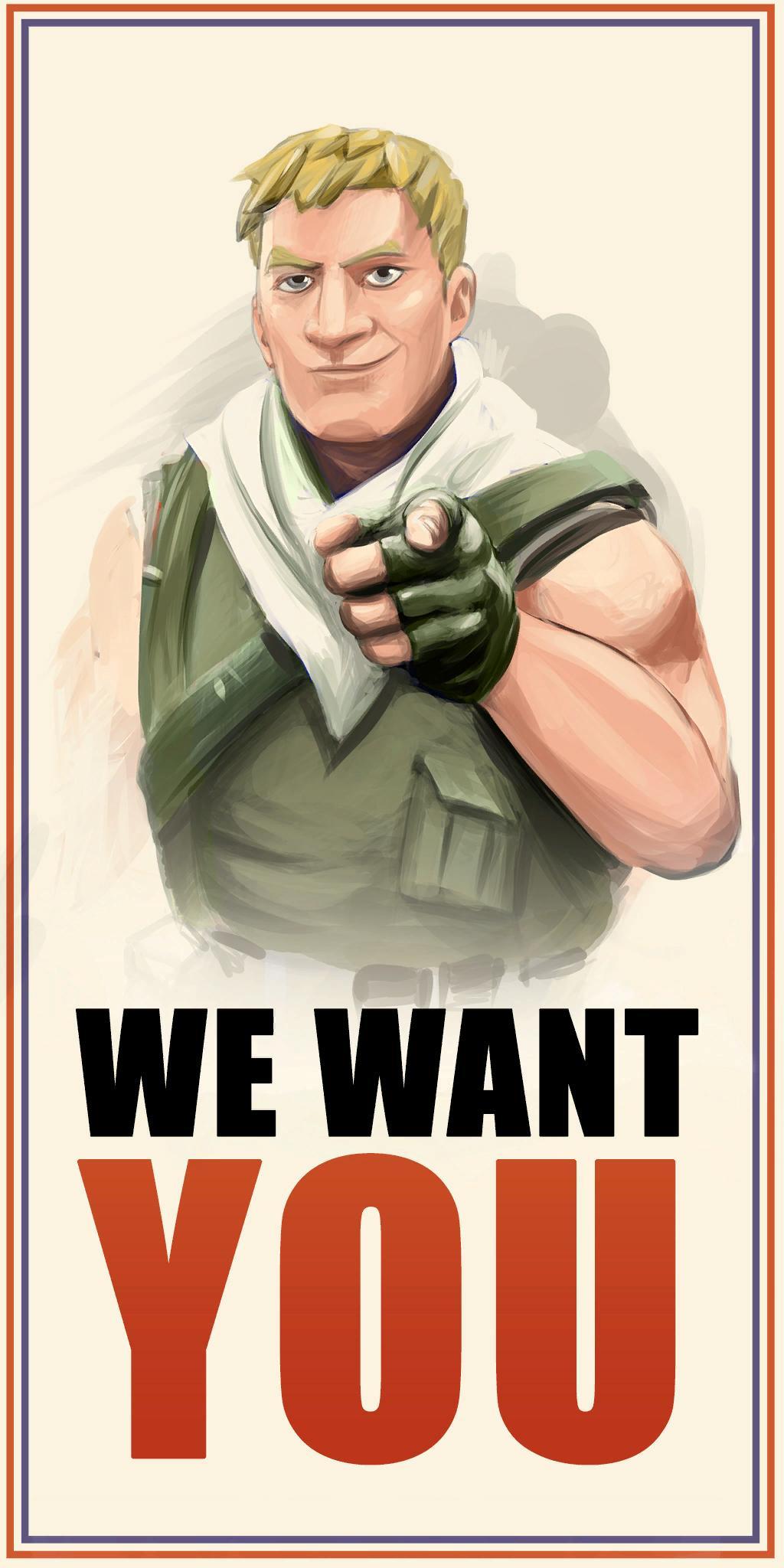 Fortnite We Want You Propaganda Poster