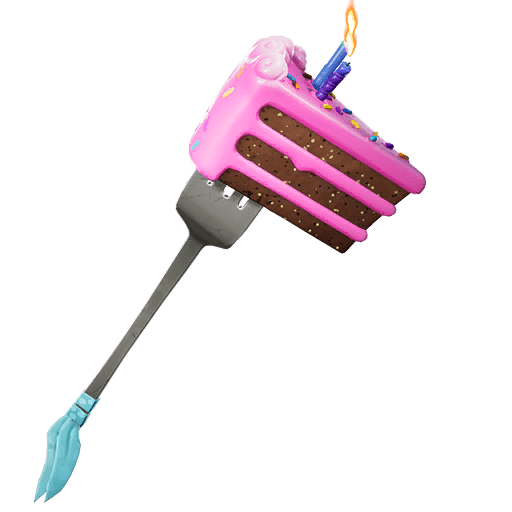 Fortnite's 2nd Birthday Reward - Birthday Slice Pickaxe